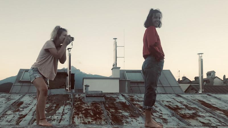 Fotoshooting auf Dach